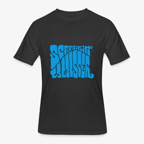 Screamin' Whisper Retro Logo - Men's 50/50 T-Shirt