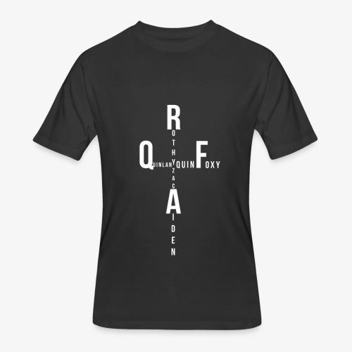 Rothy Quinlan foxy Aiden Zac quin logo - Men's 50/50 T-Shirt