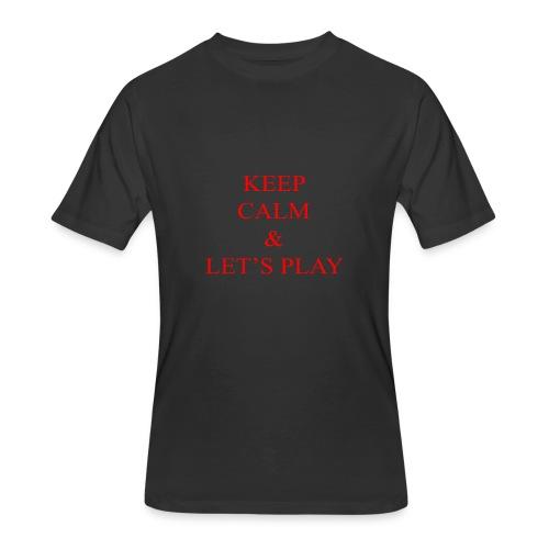 Keep Calm & Let's Play Merch - Men's 50/50 T-Shirt