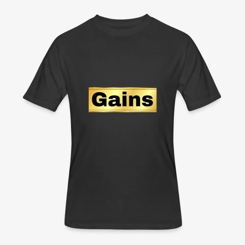 gold gains - Men's 50/50 T-Shirt