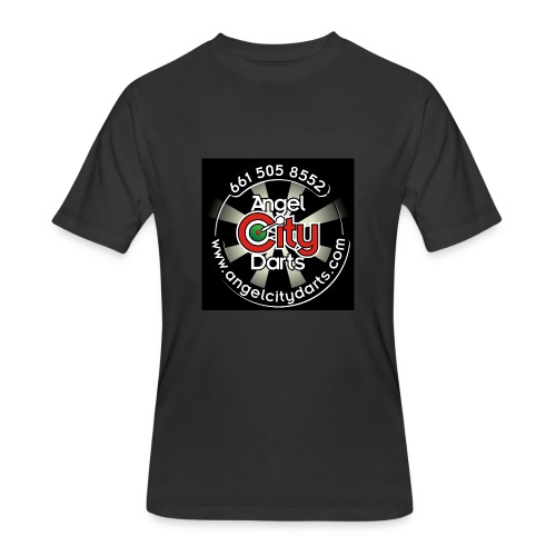 logo on black - Men's 50/50 T-Shirt