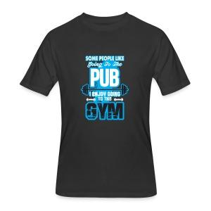 I Enjoy Going to the GYM - Men's 50/50 T-Shirt