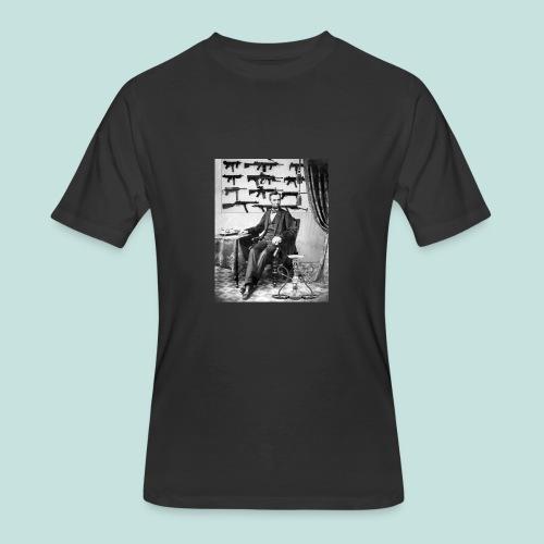 Strapped Abe - Men's 50/50 T-Shirt