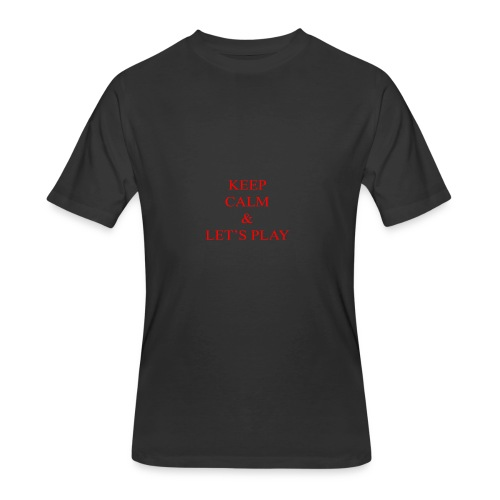 Keep Calm & Let's Play Merch - Men's 50/50 T-Shirt