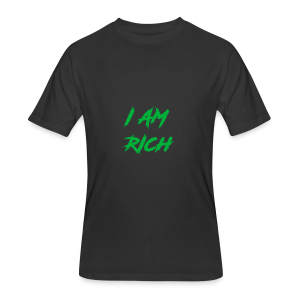 I AM RICH (WASTE YOUR MONEY) - Men's 50/50 T-Shirt