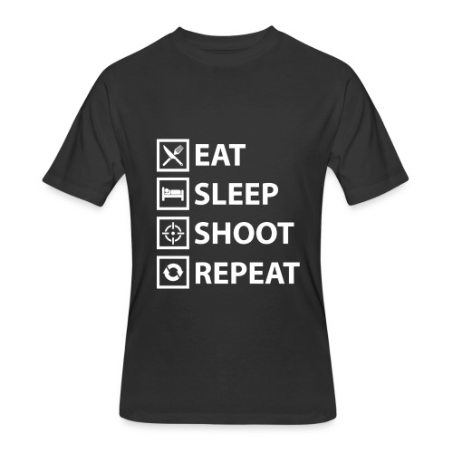 Eat Sleep Shoot Repeat - Men's 50/50 T-Shirt
