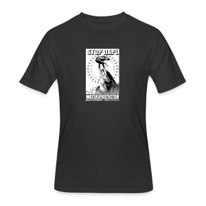 STOP DAPL Water Protector - Men's 50/50 T-Shirt
