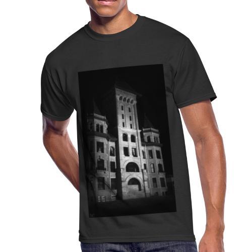 Castle in Town - Men's 50/50 T-Shirt
