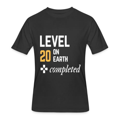 20th birthday gift level 20 on earth completed - Men's 50/50 T-Shirt