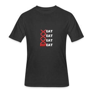 Eat, Eat, Eat, RepEAT - Men's 50/50 T-Shirt