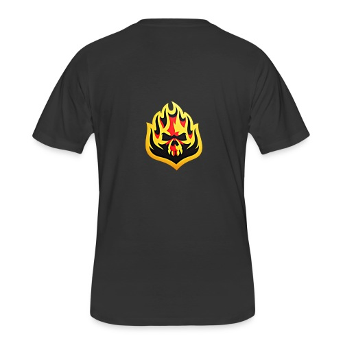 ListenTunes Fire Skull - Men's 50/50 T-Shirt