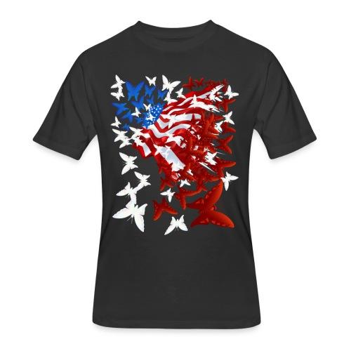 The Butterfly Flag - Men's 50/50 T-Shirt