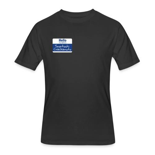 Snortoshi Crakamoto Name Tag Bitcoin Creator - Men's 50/50 T-Shirt