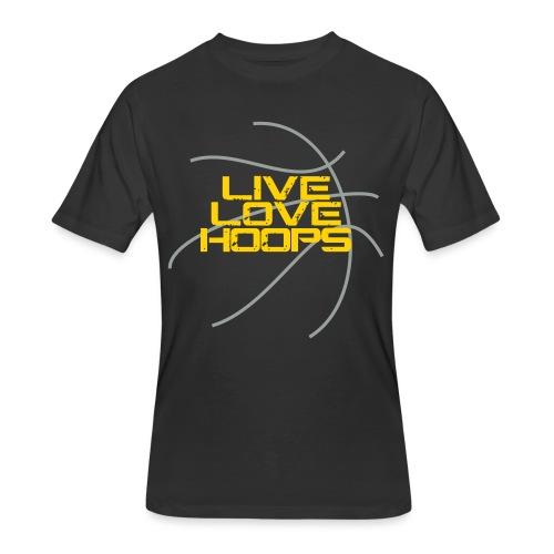 Live Love Hoops Basketball - Men's 50/50 T-Shirt