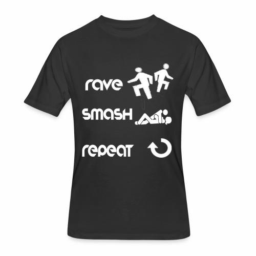 rave smash repeat - Men's 50/50 T-Shirt