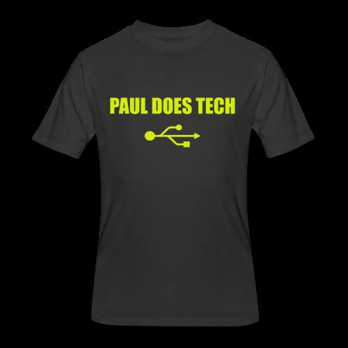 Paul Does Tech Yellow Logo With USB (MERCH) - Men's 50/50 T-Shirt