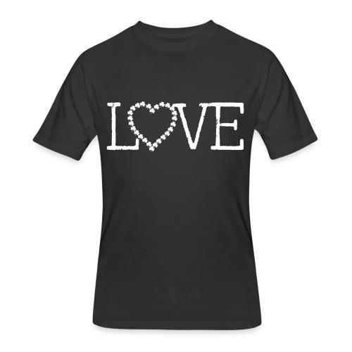 LOVE irish shamrocks - Men's 50/50 T-Shirt
