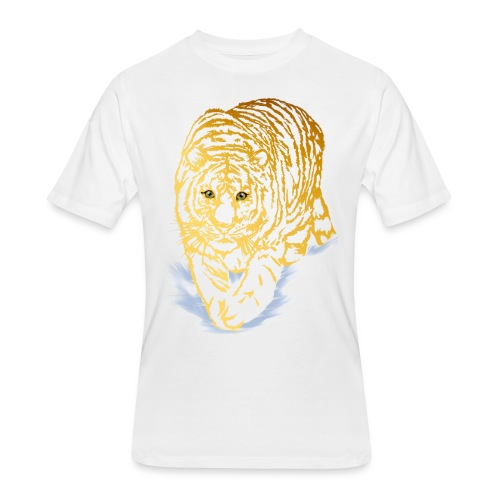 Golden Snow Tiger - Men's 50/50 T-Shirt
