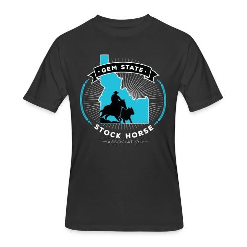 Turquose Sunburst Logo - Men's 50/50 T-Shirt