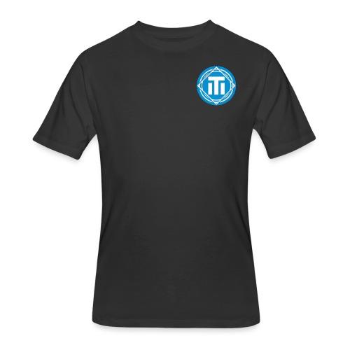 blue logo - Men's 50/50 T-Shirt