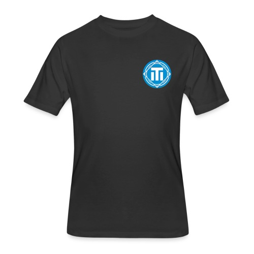 blue logo - Men's 50/50 T-Shirt