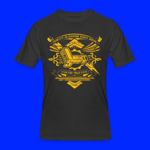Vintage Leet Sauce Studios Crest Gold - Men's 50/50 T-Shirt