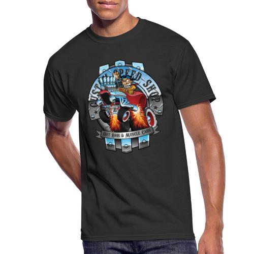Custom Speed Shop Hot Rods and Muscle Cars Illustr - Men's 50/50 T-Shirt