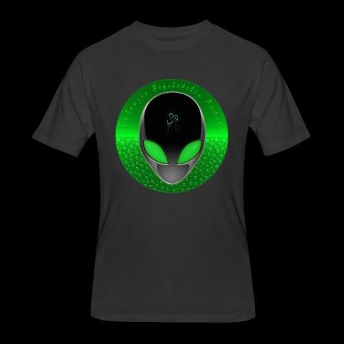 Psychedelic Alien Dolphin Green Cetacean Inspired - Men's 50/50 T-Shirt