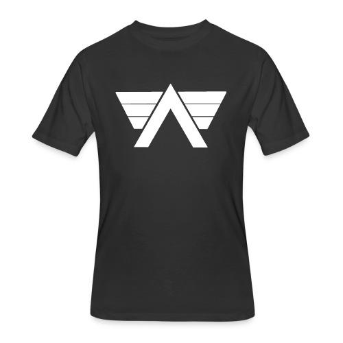 Bordeaux Sweater White AeRo Logo - Men's 50/50 T-Shirt