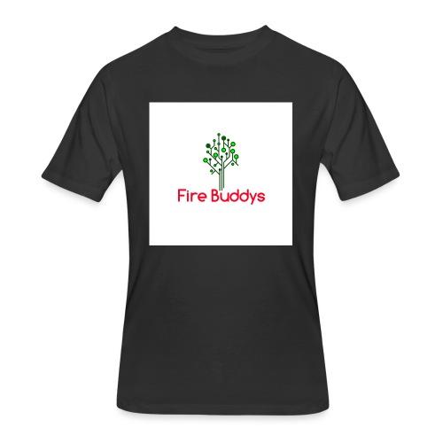 Fire Buddys Website Logo White Tee-shirt eco - Men's 50/50 T-Shirt