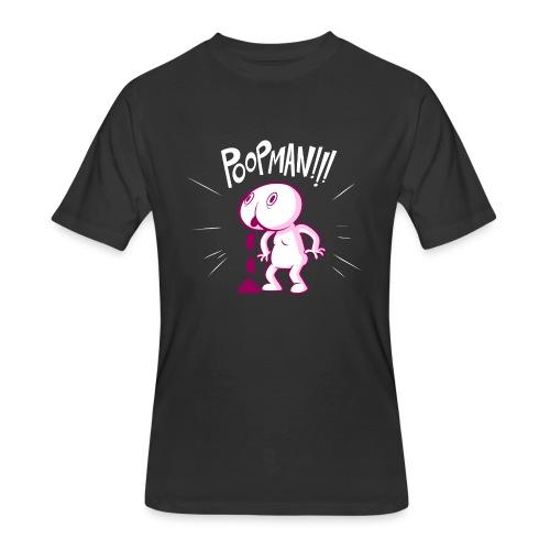POOPMAN0CHICKS png - Men's 50/50 T-Shirt