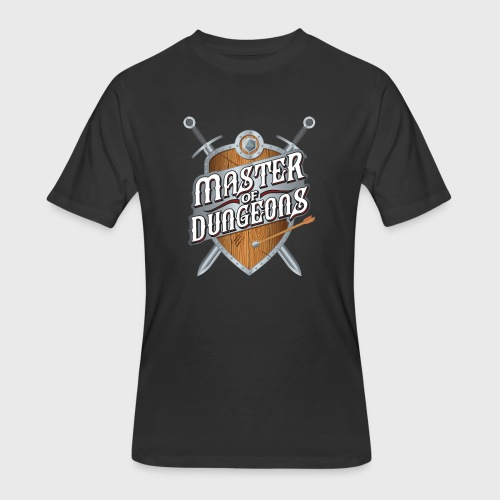 master of dungeons shield and swords fantasy gift - Men's 50/50 T-Shirt