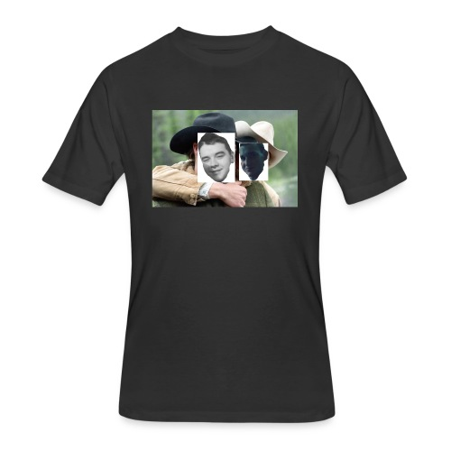 Darien and Curtis Camping Buddies - Men's 50/50 T-Shirt