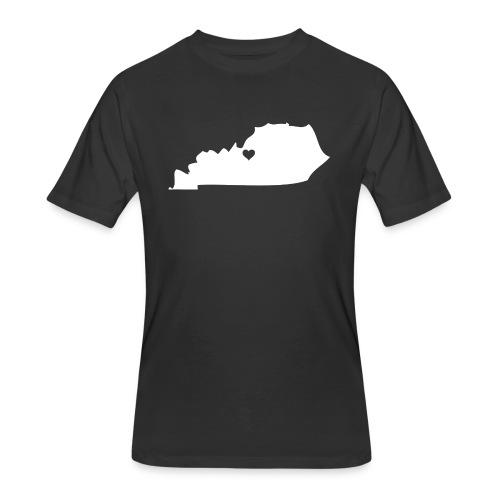 Kentucky Silhouette Heart - Men's 50/50 T-Shirt