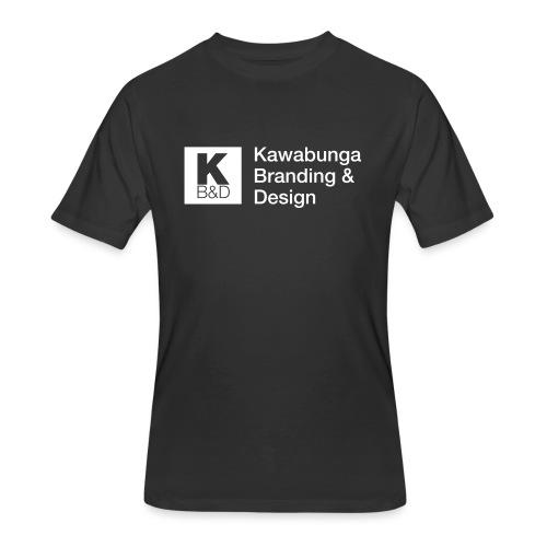 KBD Signature_blanc - Men's 50/50 T-Shirt