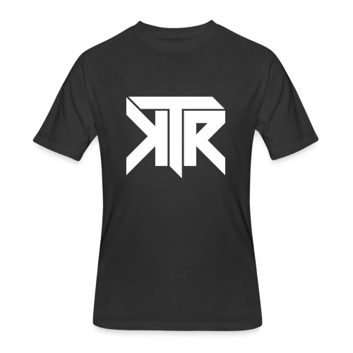KTR Logo White - Men's 50/50 T-Shirt