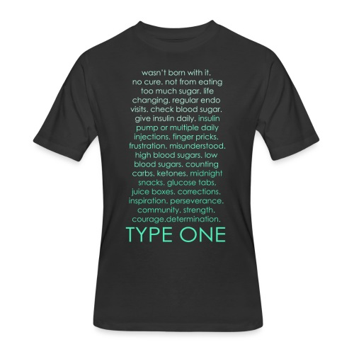 The Inspire Collection - Type One - Green - Men's 50/50 T-Shirt