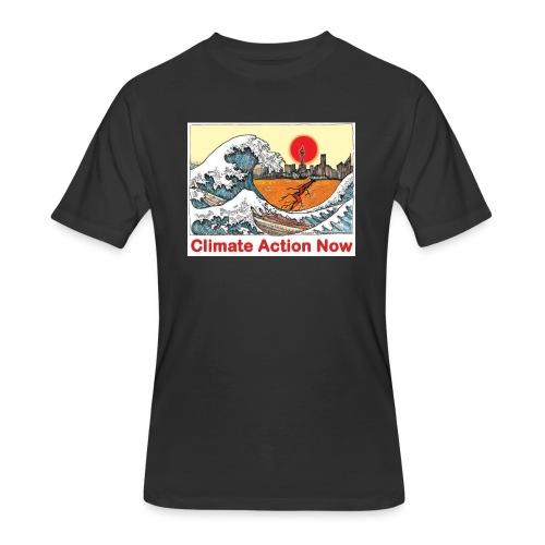 T shirt Wave - Men's 50/50 T-Shirt