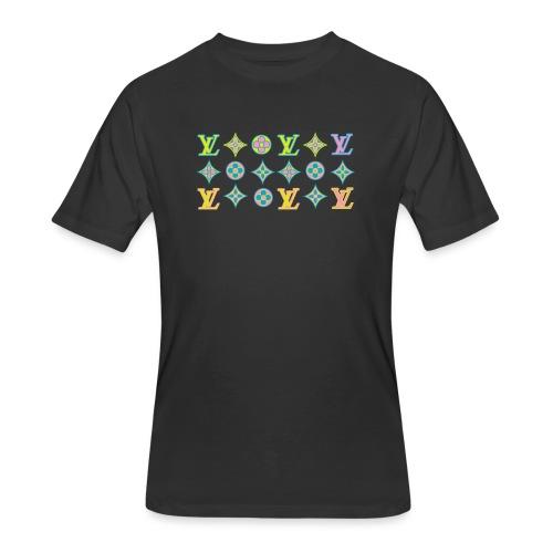 custom coloured LV pattern. - Men's 50/50 T-Shirt