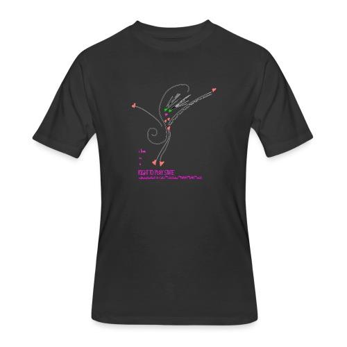 Rt2PlayHRTGrlZ_BLK©clili - Men's 50/50 T-Shirt