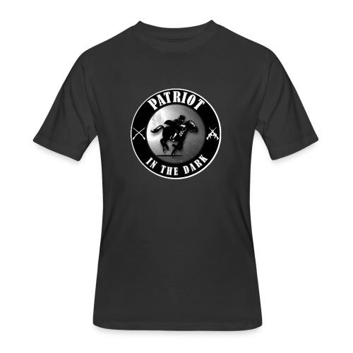 Patriot In The Dark Channel G2 Dark Logo - Men's 50/50 T-Shirt