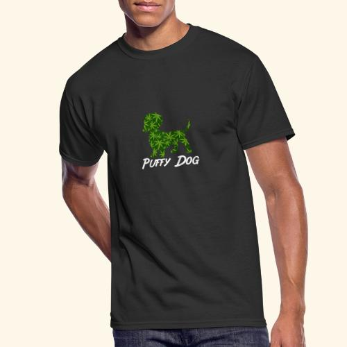 PUFFY DOG - PRESENT FOR SMOKING DOGLOVER - Men's 50/50 T-Shirt
