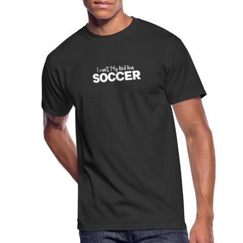 I Can't My Kid Has Soccer logo - Men's 50/50 T-Shirt