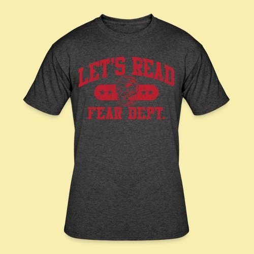Fear Dept - Athletic Red - Inverted - Men's 50/50 T-Shirt