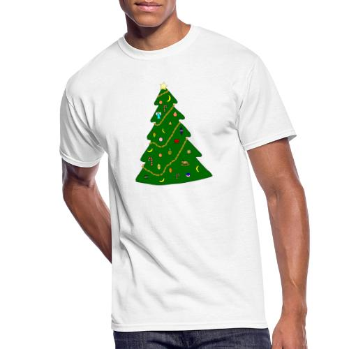 Christmas Tree For Monkey - Men's 50/50 T-Shirt