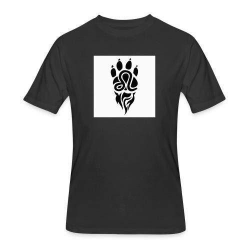 Black Leo Zodiac Sign - Men's 50/50 T-Shirt