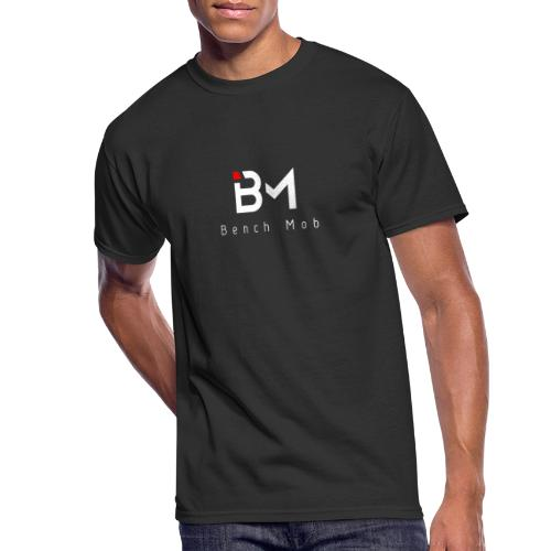 Bench Mob Logo (white) - Men's 50/50 T-Shirt