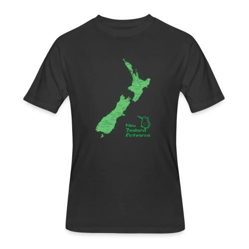 New Zealand's Map - Men's 50/50 T-Shirt