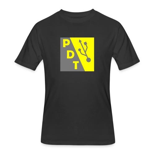 PDT Logo - Men's 50/50 T-Shirt