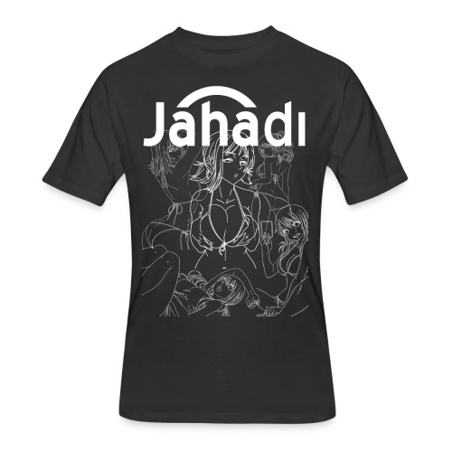 HADIBITCHESWHITE - Men's 50/50 T-Shirt